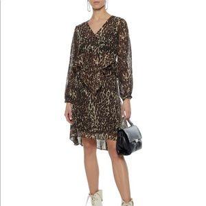 Walter Baker Leopard Print Ruffle Adam Dress